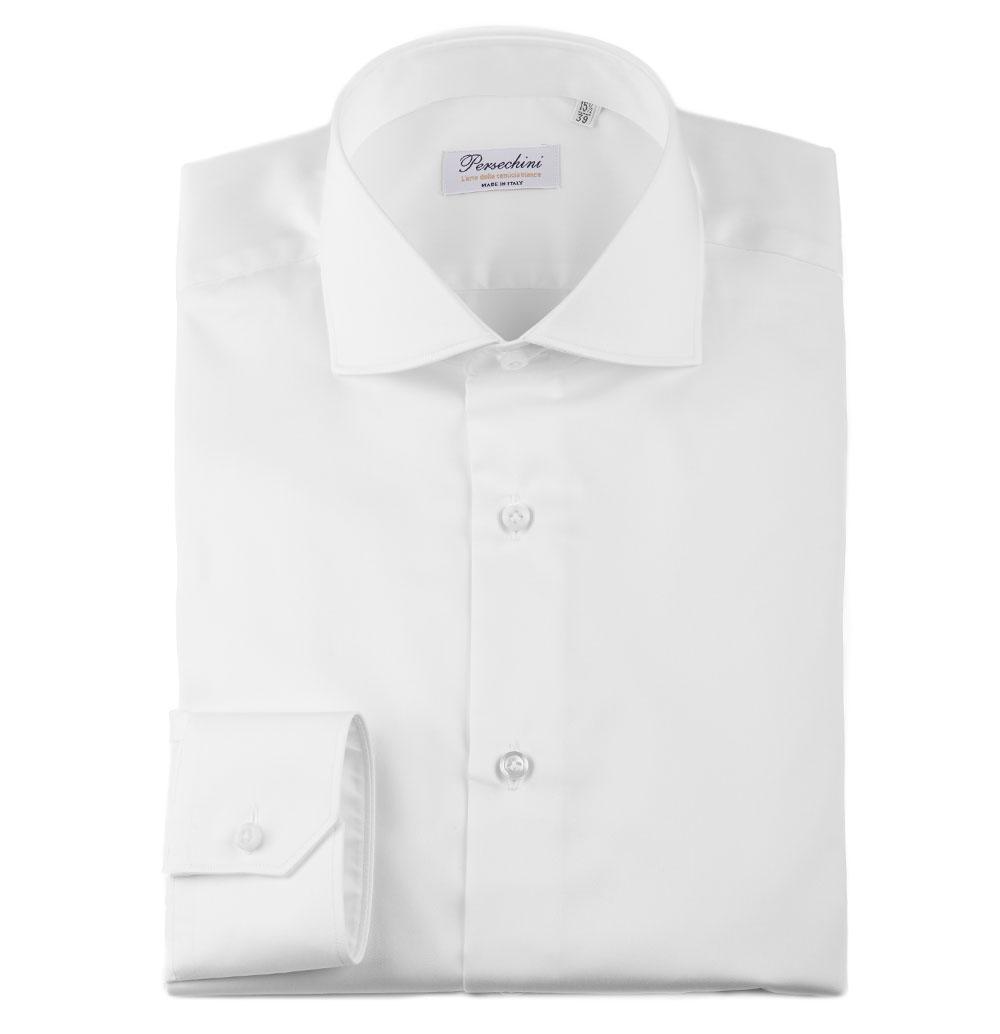 2ea4de3720 Camicia Bianca da Uomo Twill Raso