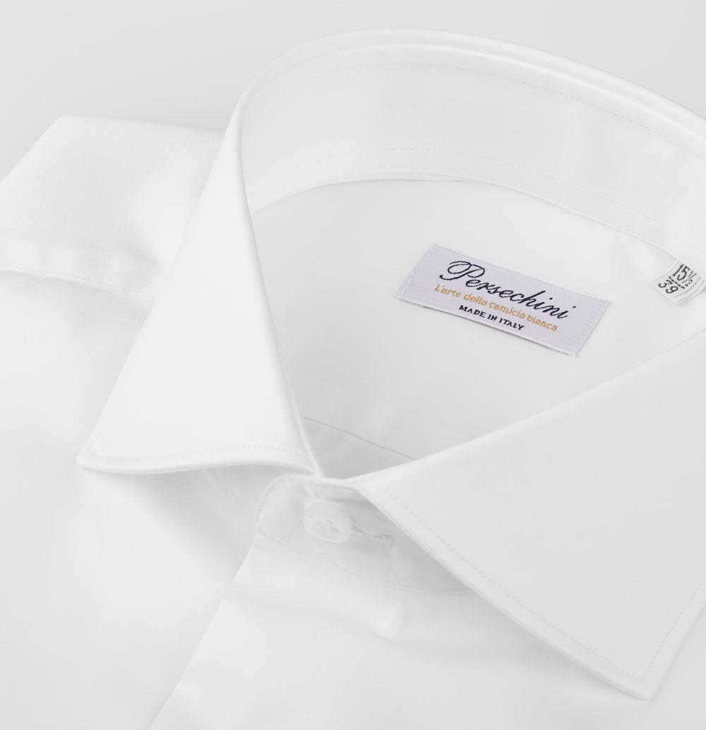 Camicia Bianca da Uomo Twill Raso - La camicia da uomo elegante ... 0bd03c248ac
